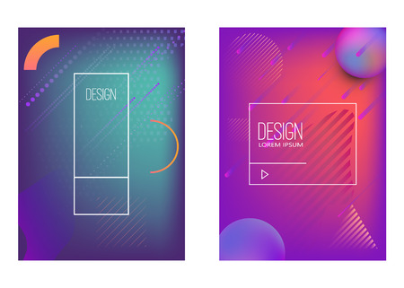 Illustration pour Set of banner design templates with abstract  vibrant gradient shapes. Design element for poster, card, flyer,presentation, brochures,cover. Vector image - image libre de droit