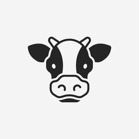 Illustration pour cow icon - image libre de droit