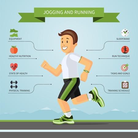 Ilustración de Fitness infographics concept. Vector illustration - Imagen libre de derechos