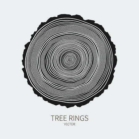 Illustration pour Vector tree rings conceptual background - image libre de droit