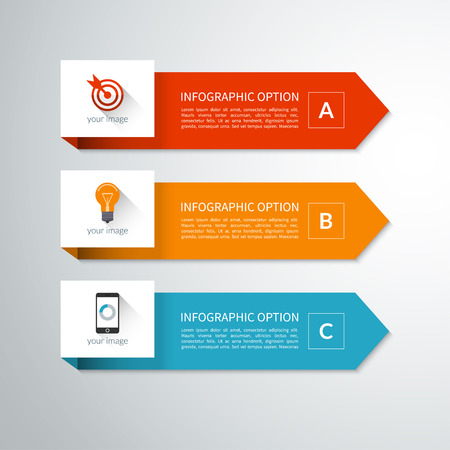Illustration for Modern minimal arrow elements for infographics - Royalty Free Image