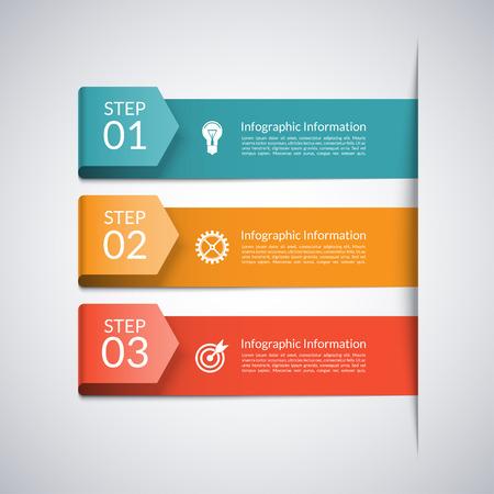 Illustration pour Modern minimal arrow template for business infographics - image libre de droit
