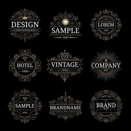 Photo pour Set of vintage luxury logo templates - image libre de droit