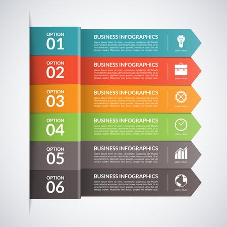 Ilustración de Arrow business infographics template.5 steps, parts, options, stages abstract vector background - Imagen libre de derechos