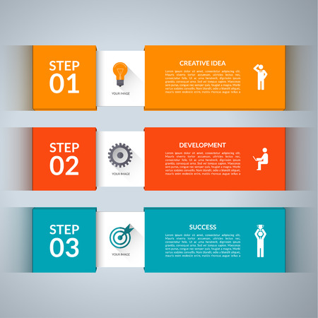 Illustration for Infographic design template with marketing icons set. - Royalty Free Image