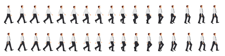 Illustration pour Business man walk cycle animation sprite sheet - image libre de droit