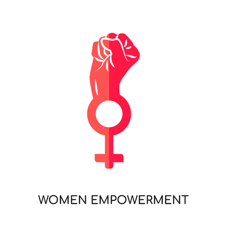Illustration pour women empowerment logo isolated on white background for your web and mobile app design , colorful vector icon, flat sign and symbol - image libre de droit