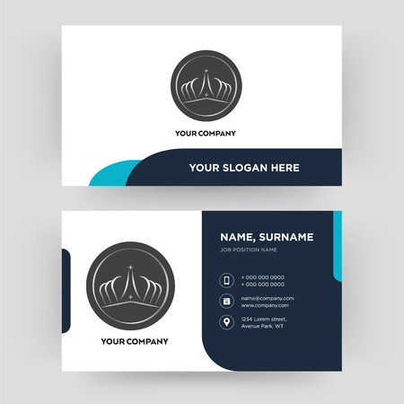 Illustration pour tiara, business card design template, Visiting for your company, Modern Creative and Clean identity Card Vector - image libre de droit
