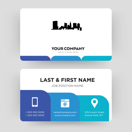 Illustration pour state of ohio, business card design template, Visiting for your company, Modern Creative and Clean identity Card Vector - image libre de droit