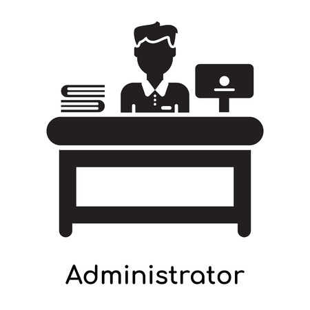 Illustration pour Administrator icon isolated on white background for your web and mobile app design - image libre de droit