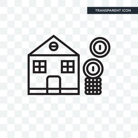 Illustration pour Mortgage  icon isolated on transparent background, Mortgage icon concept - image libre de droit