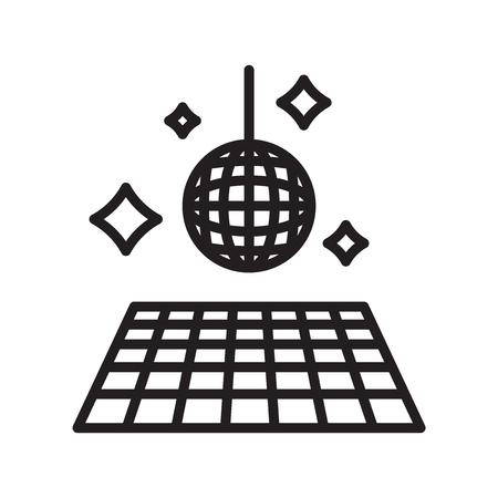 Ilustración de Floor icon vector isolated on white background, Floor transparent sign , line or linear symbol and sign design in outline style - Imagen libre de derechos