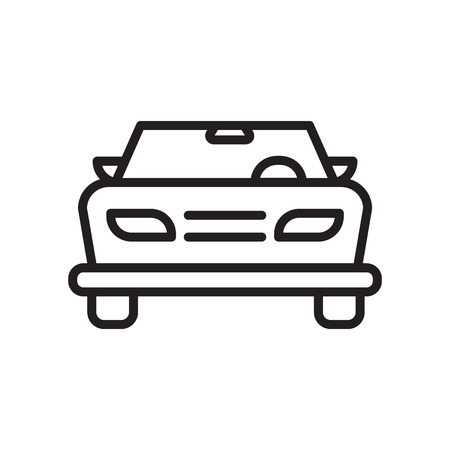 Illustration pour Car frontal view icon vector isolated on white background for your web and mobile app design, Car frontal view logo concept - image libre de droit