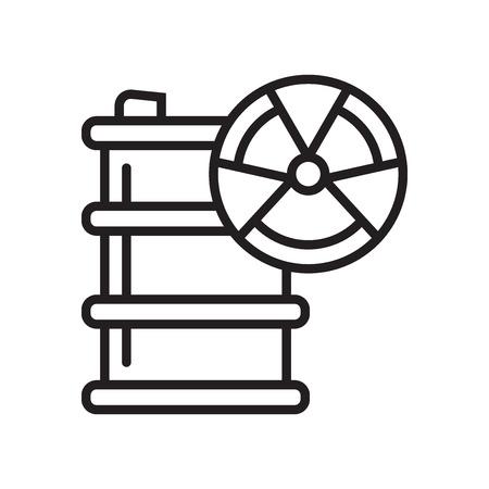 Ilustración de Hazardous icon vector isolated on white background for your web and mobile app design, Hazardous logo concept - Imagen libre de derechos
