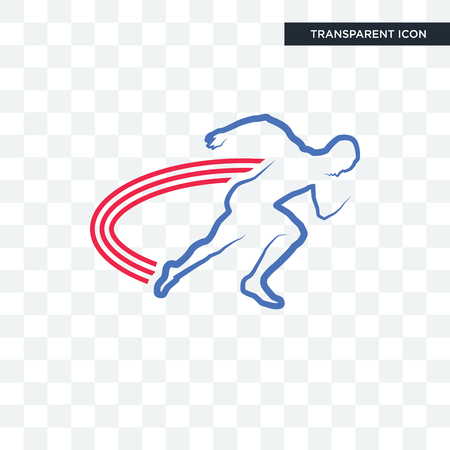 Illustration pour track and field vector icon isolated on transparent background, track and field logo concept - image libre de droit