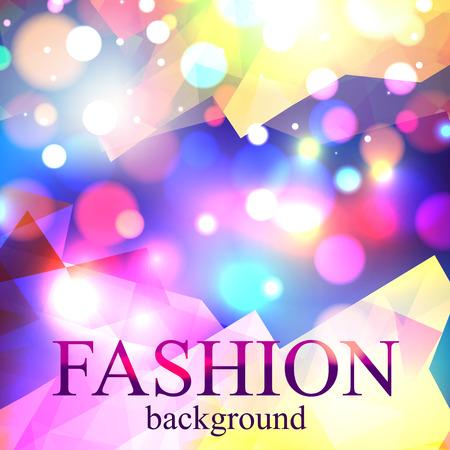 Illustration for Shining fashion blur bokeh background for beauty design. Vector illustration. - Royalty Free Image
