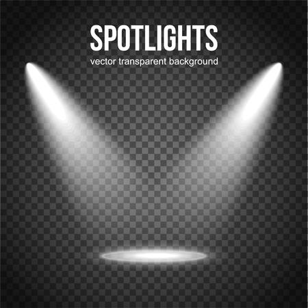 Illustration pour Vector Spotlight Background. Spotlight isolated. Stage lights vector. Spotlight background vector. Spot vector. Light Effects. - image libre de droit