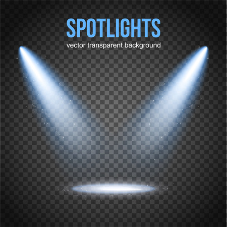 Illustration for Vector Spotlight Background. Spotlight isolated. Stage lights vector. Spotlight background vector. Spot vector. Light Effects. - Royalty Free Image