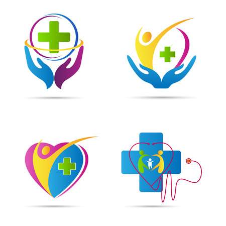 Photo pour Health care vector design represents family health care and medical signs. - image libre de droit