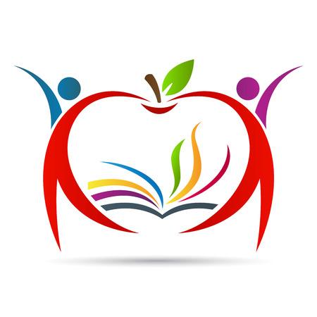 Photo pour Education apple vector design represents school , education emblem concept. - image libre de droit