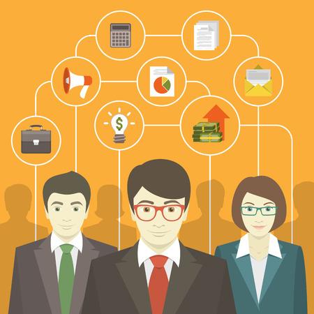 Ilustración de Teamwork of business consulting professionals - Imagen libre de derechos
