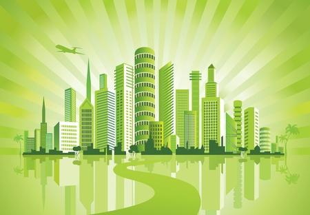 Foto de Green City. Urban background. Environment.  - Imagen libre de derechos