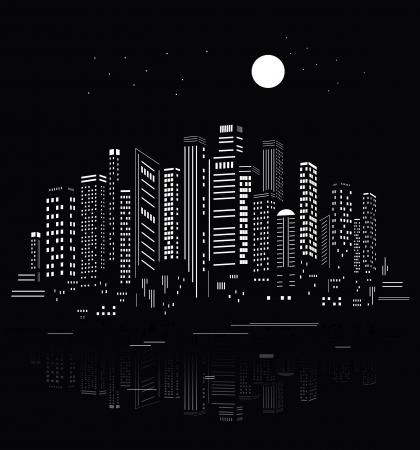 Illustration pour Abstract City Silhouette  - image libre de droit
