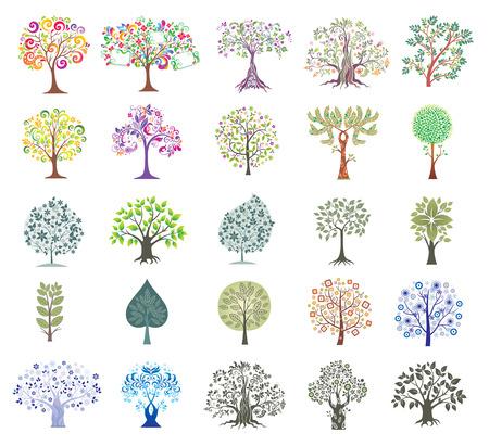 Foto für Set of Abstract Colorful Trees. - Lizenzfreies Bild