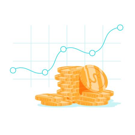 Illustration pour Finance productivity graph - image libre de droit