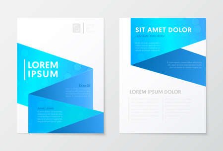 Illustration pour Blue Annual Report Business Brochure, Booklet, Cover Flyer Template. Corporate Design. Abstract Poster. Vector illustration - image libre de droit