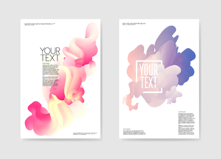 Ilustración de Abstract Poster Liquid Background. Fluid Shapes Brochure Template. Banner Identity Card Cover Design. Vector illustration - Imagen libre de derechos