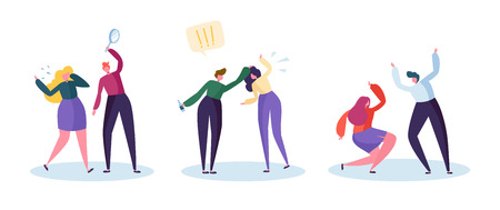 Ilustración de Drinking Problem and Domestic Violence Concept. Abusive Angry Husband Character Punching Hitting Frightened Wife. Global Social Relationship Issue. Flat Cartoon Vector Illustration - Imagen libre de derechos