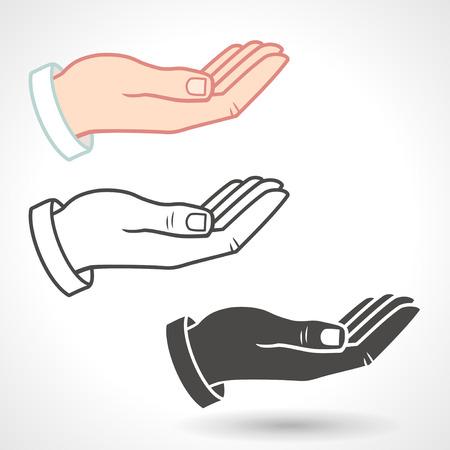 Illustration pour Vector Hand Icon Giving Gesture. - image libre de droit