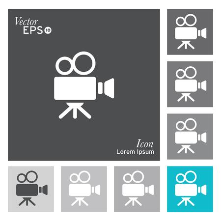Ilustración de Film camera icon - vector, illustration. - Imagen libre de derechos