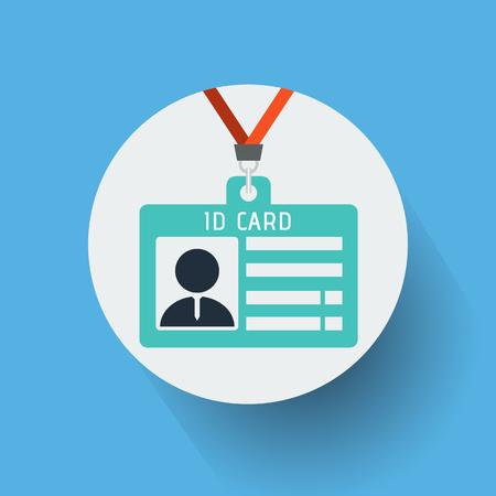 Illustration pour ID card icon vector illustration. - image libre de droit