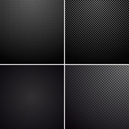 Illustration pour Metal-carbon textures - image libre de droit