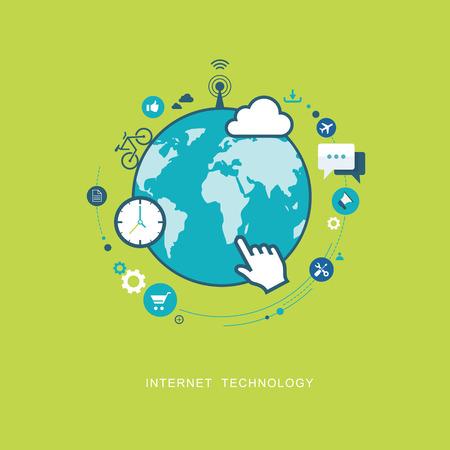 Ilustración de Internet technology flat illustration. eps8 - Imagen libre de derechos