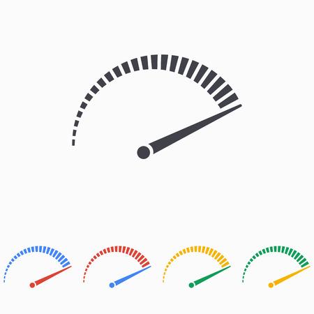 Ilustración de Speed icon on white background - Imagen libre de derechos