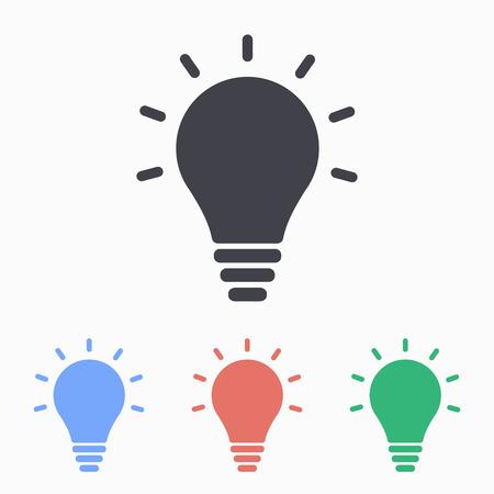 Ilustración de Lightbulb icon, vector illustration. - Imagen libre de derechos