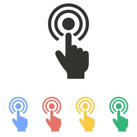 Illustration pour Touch   icon  on white background. Vector illustration. - image libre de droit