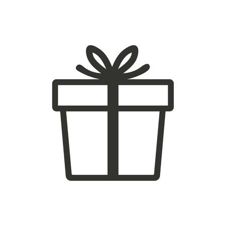 Illustration pour Gift Box  icon  on white background. Vector illustration. - image libre de droit