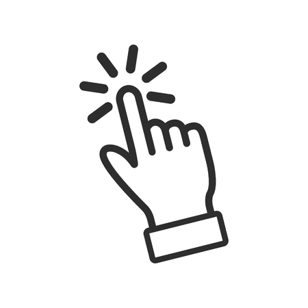 Illustration pour Touch vector icon. Black illustration isolated on white background for graphic and web design. - image libre de droit