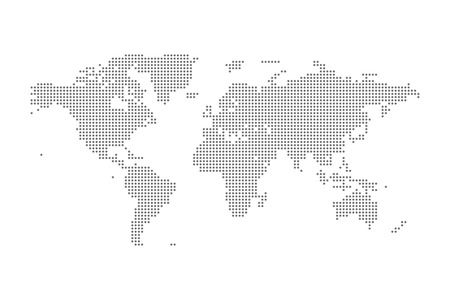 Illustration pour Grey Political World Map Vector isolated Illustration - image libre de droit