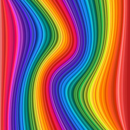 Ilustración de Abstract Colorful rainbow Waves. Vector illustration Background - Imagen libre de derechos