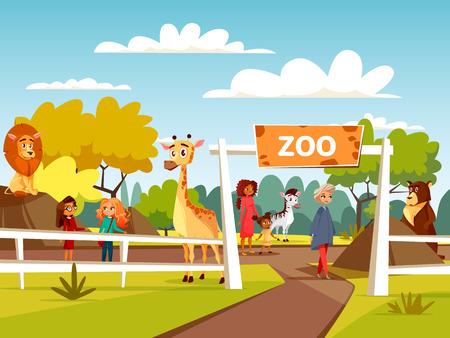 Illustration pour Zoo image illustration - image libre de droit