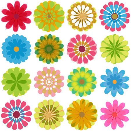 Illustration pour Multiple flowers 2 - image libre de droit