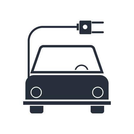 Foto de Electro car icon vector isolated on white background for your web and mobile app design, Electro car logo concept - Imagen libre de derechos