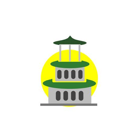 Ilustración de Pagoda icon vector isolated on white background for your web and mobile app design, Pagoda logo concept - Imagen libre de derechos
