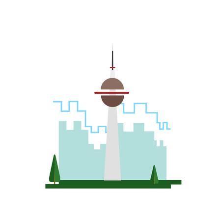 Ilustración de Cn tower icon vector isolated on white background for your web and mobile app design, Cn tower logo concept - Imagen libre de derechos