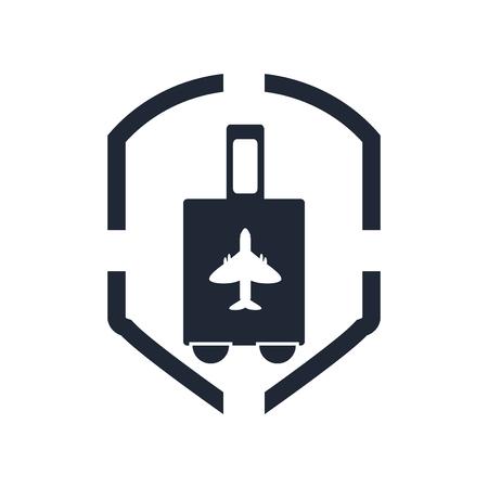 Ilustración de Air travel insurance icon vector isolated on white background for your web and mobile app design, Air travel insurance logo concept - Imagen libre de derechos